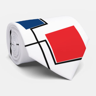 abstract primary colour squares tie