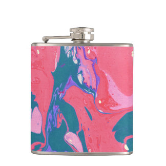 Abstract Print Flask
