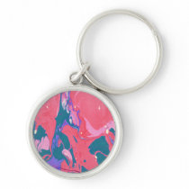 Abstract Print Keychain