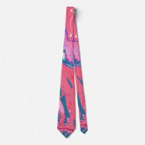 Abstract Print Neck Tie