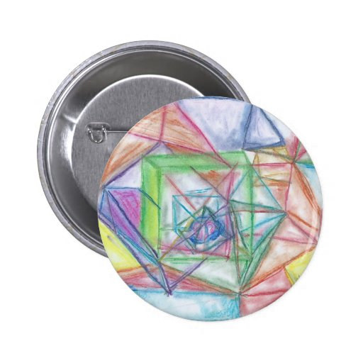 Abstract Prisms Button