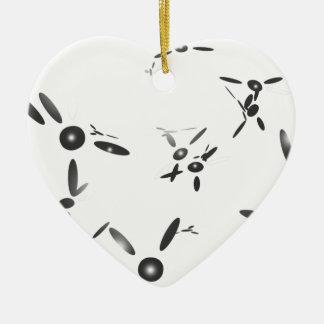 Abstract propeller design ceramic ornament