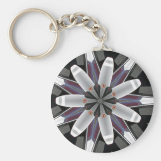 Abstract Propeller Keychain
