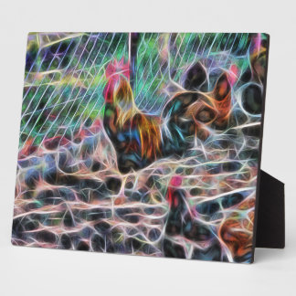 Abstract Proud Rooster Plaque