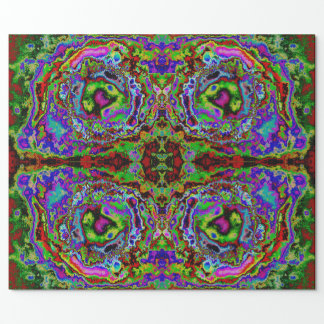 Abstract Psychedelic Glossy Wrapping Paper