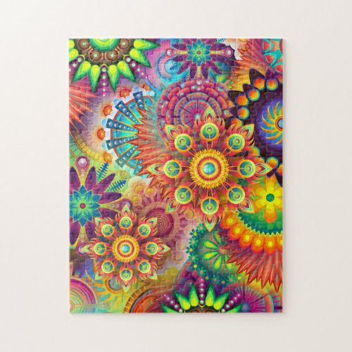 Abstract Psychedelic Mandalas Puzzle