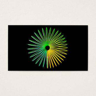 Abstract Psychedelic Optical Illusion Business Business Card