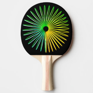 Abstract Psychedelic Optical Illusion Ping Pong Ping-Pong Paddle