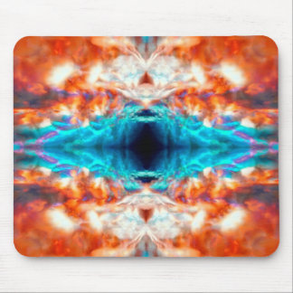 Abstract psychedelic pattern mouse pad