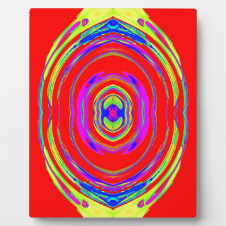 Abstract Psychedelic Pattern: Plaque