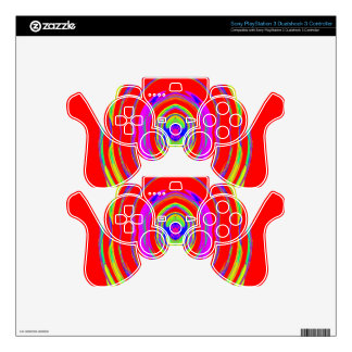 Abstract Psychedelic Pattern: Skins For PS3 Controllers