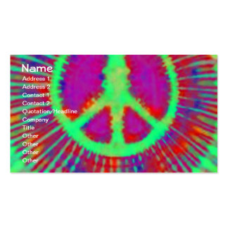 Abstract Psychedelic Tie-Dye Peace Sign Business Cards