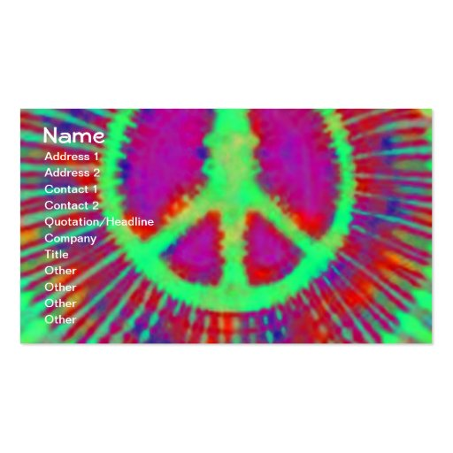 Tie dye business card templates page2 bizcardstudio abstract psychedelic tie dye peace sign business cards colourmoves