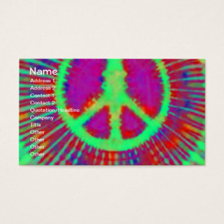 Abstract Psychedelic Tie-Dye Peace Sign Business Card