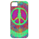 Abstract Psychedelic Tie-Dye Peace Sign iPhone 5 Cases