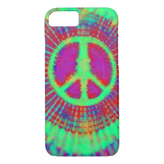 Abstract Psychedelic Tie-Dye Peace Sign iPhone 7 Case