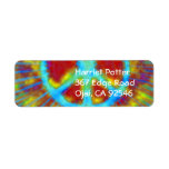 Abstract Psychedelic Tie-Dye Peace Sign Return Address Labels
