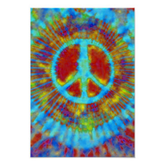 Abstract Psychedelic Tie-Dye Peace Sign Poster