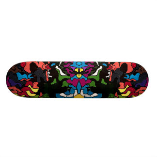 Abstract psychedelic trippy Medusa design Skateboard