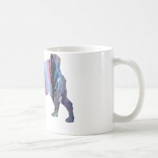Abstract Pug silhouette Coffee Mug
