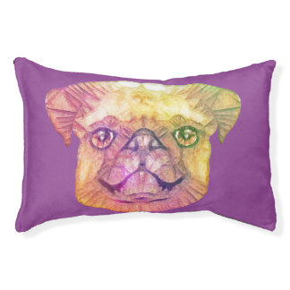 abstract pug small dog bed