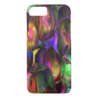 Abstract Purple and Floral by Trevor Star iPhone 7 Case