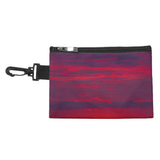 Abstract Purple and Orange Sunset Accessories Bag
