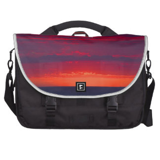 Abstract Purple and Orange Sunset Commuter Bags