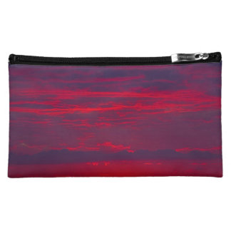 Abstract Purple and Orange Sunset Cosmetic Bags
