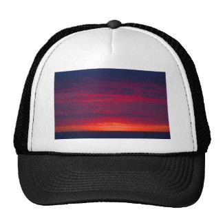 Abstract Purple and Orange Sunset Trucker Hat
