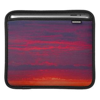 Abstract Purple and Orange Sunset iPad Sleeves