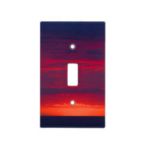 Abstract Purple and Orange Sunset Light Switch Cover