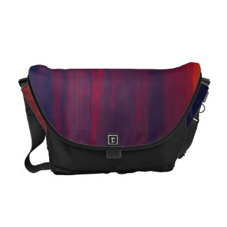 Abstract Purple and Orange Sunset Messenger Bags