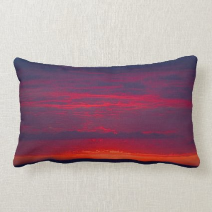 Abstract Purple and Orange Sunset Pillow