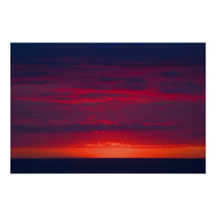 Abstract Purple and Orange Sunset Posters
