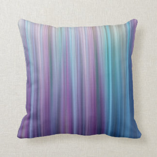 Abstract Purple and Teal Gradient Stripes Pattern Pillow