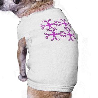 Abstract Purple Awareness Butterfly Doggie Tee Shirt