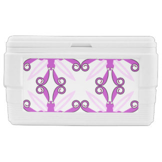 Abstract Purple Awareness Butterfly Igloo Ice Chest