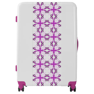 Abstract Purple Awareness Butterfly Luggage