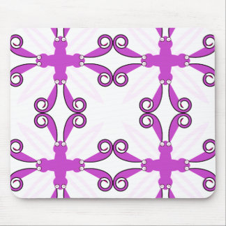 Abstract Purple Awareness Butterfly Mousepads
