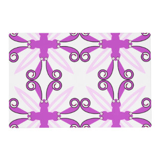 Abstract Purple Awareness Butterfly Laminated Placemat