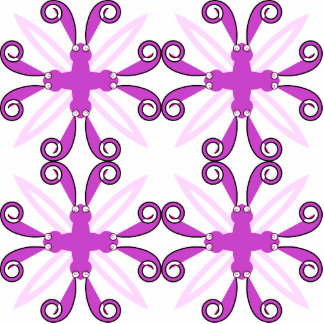 Abstract Purple Awareness Butterfly Photo Cutout