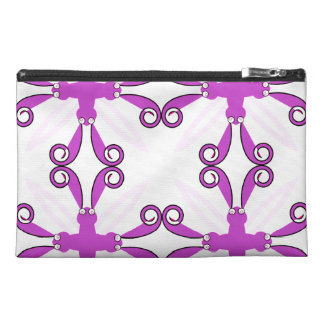 Abstract Purple Awareness Butterfly Travel Accessory Bags