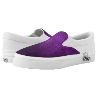Abstract Purple Background Or Paper With Bright Slip-On Sneakers