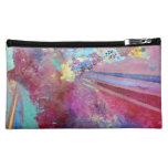 Abstract Purple Bag Makeup Bag