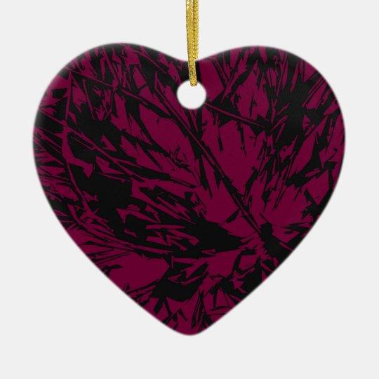 Abstract Purple & Black Ceramic Ornament