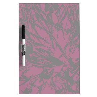 Abstract Purple & Black Dry-Erase Board