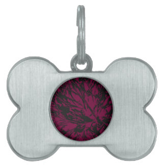 Abstract Purple & Black Pet Tag