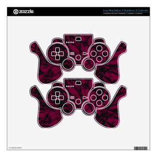 Abstract Purple & Black PS3 Controller Skin