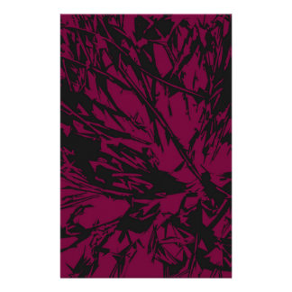 Abstract Purple & Black Stationery